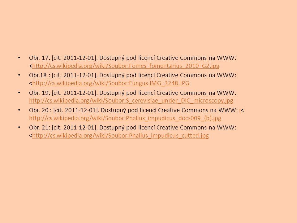 Obr. 17: [cit. 2011-12-01]. Dostupný pod licencí Creative Commons na WWW: <http://cs.wikipedia.org/wiki/Soubor:Fomes_fomentarius_2010_G2.jpg